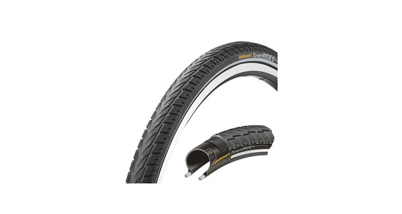 "Continental Town RIDE 26 x 1,75"" Puncture Protection Draht Reflex"